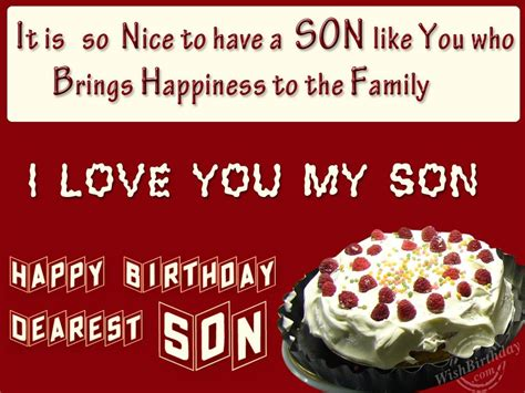 Wishing You Happy Birthday Birthday Wishes For Son Birthday Images Pictures