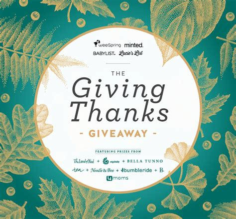 2017 giving thanks giveaway weespring - Http Blog Weespring 2017 Giving Thanks Giveaway