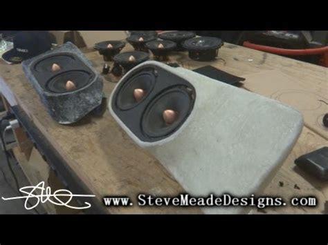 custom fiberglass door panel speaker pods lexus isf sound system install video  youtube
