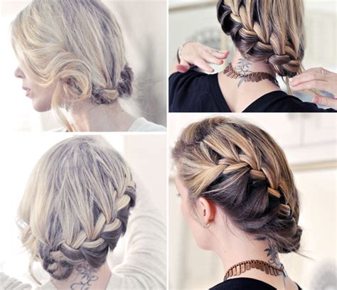 french braid low side hair tutorial pretty side french braid low updo holidays oo
