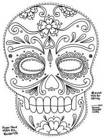 dia de los muertos printables skull coloring pages dia de los muertos skull coloring