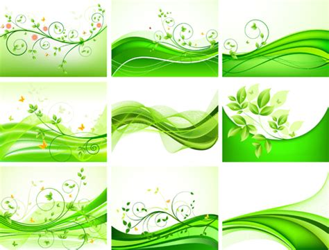 abstract green leaves background design vector vector