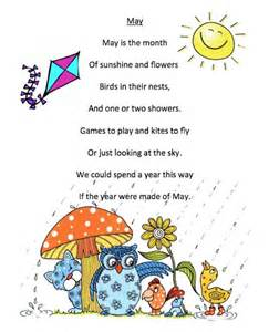 grade onederful may poem printables rhymes poems for