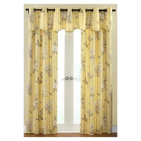 waverly curtains at lowes shop waverly 84 quot l amber curtain panel at lowes com