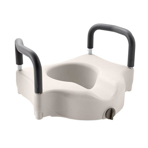 elevated toilet seat medline adjustable elevated toilet seat mds80316h the