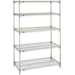 adjustable shelving unit metro 5a557c stationary erecta adjustable 2 series