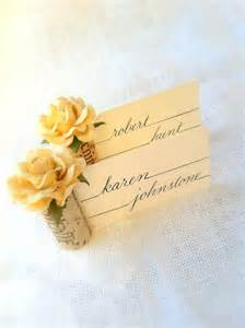 wine cork place card holders in chagne wedding