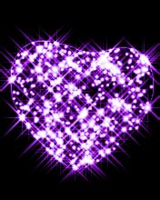 purple heart glitter picture photo  fanpop