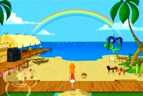 phineas and ferb backyard beach image backyard beach revealed jpg phineas and ferb