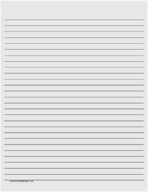 printable lined paper light gray wide black lines