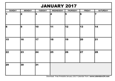 Calendar 2015 January And February January 2017 Calendar February 2017 Calendar