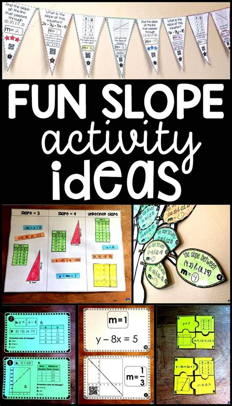 slope math games fun activities for learning and teaching slope