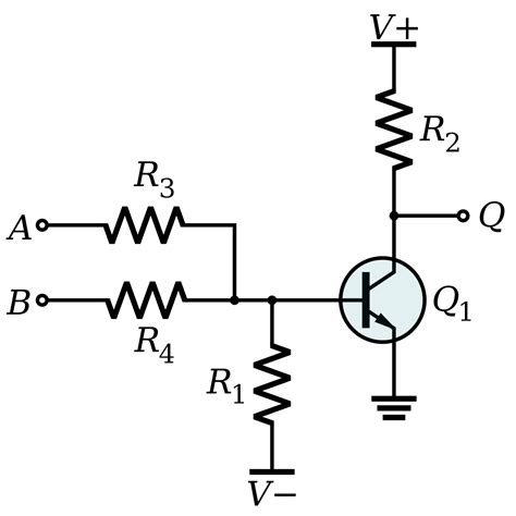 resistor logic circuits transistor nor gate 28 images how to combine transistor logic gates without voltage drop