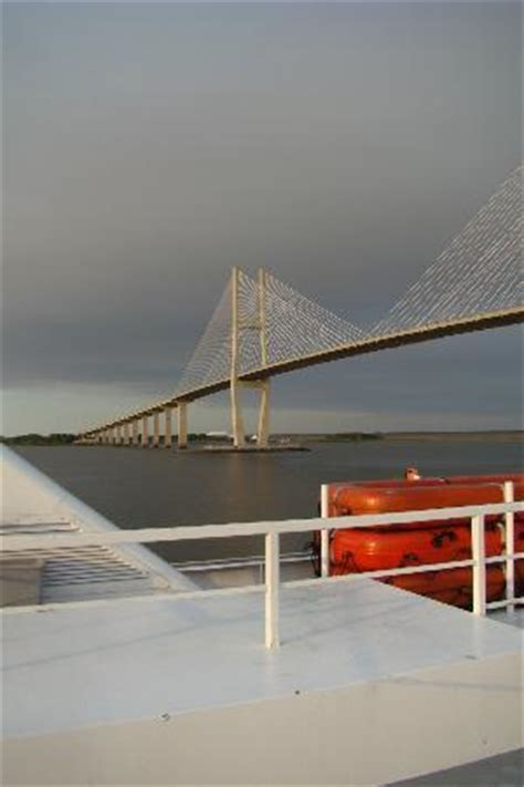 emerald casino boat ride sidney lanier bridge brunswick taken from emerald princess