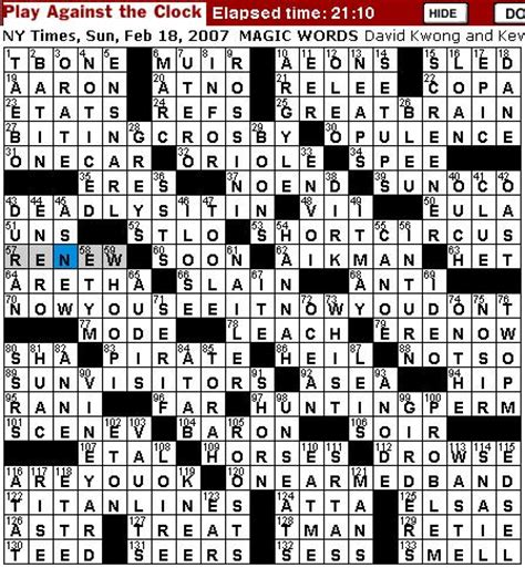 prime theme crossword clue rex parker does the nyt crossword puzzle sunday feb 18
