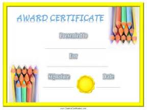 children certificates free customizable