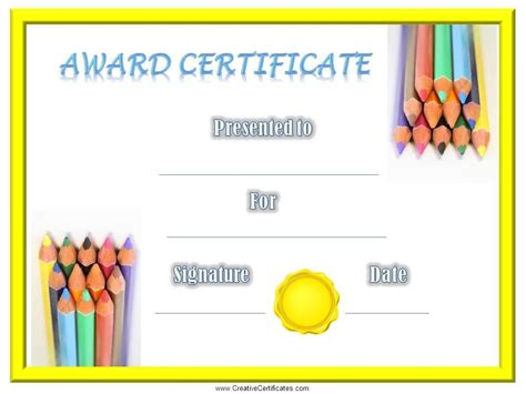 children s certificates free and customizable instant