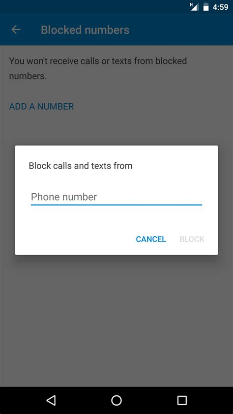 block messages android how to block messages call from any number in android