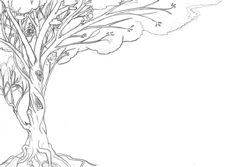 line drawings trees tree lineart for background by tzigany on deviantart