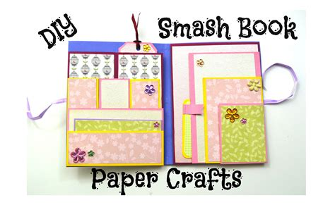 paper book crafts smash book slim diy paper crafts scrapbooking tutorial