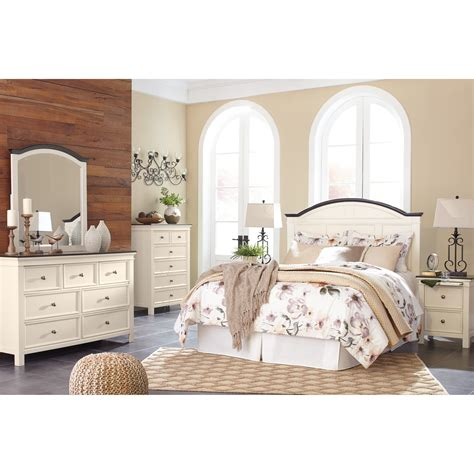 ashley queen bedroom set ashley signature design woodanville queen bedroom group