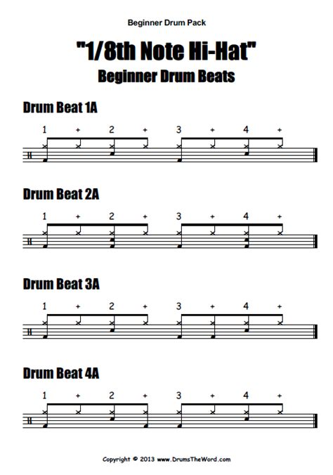 drum pattern variation quot beginner starter quot video pack drumstheword online