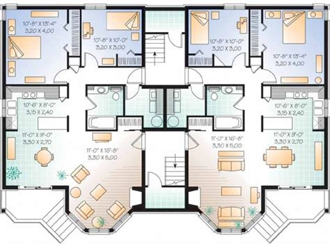 Apartment Building Blueprint Eplans New American House
