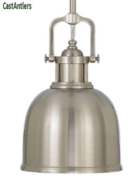 brushed steel pendant light industrial pendants industrial light pendant brushed
