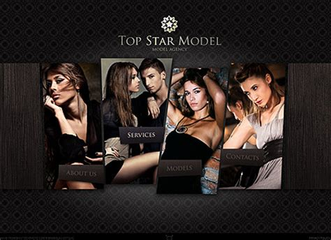 Model Agency Flash Website Template Best Website Templates Model Agency Template
