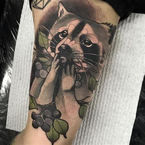 raccoon tattoo neotraditional raccoon dev
