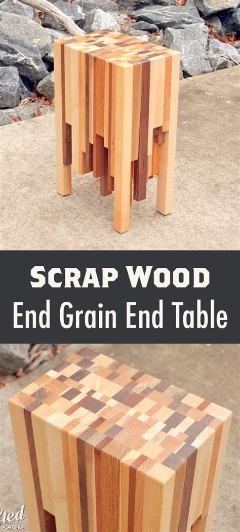 scrap wood  grain  table cool wood projects cool