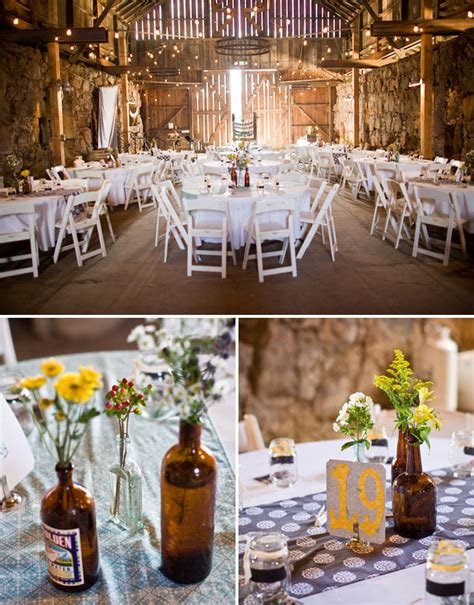 Simple Country Wedding Decorations by Danielle S Real Barn Wedding Green Wedding