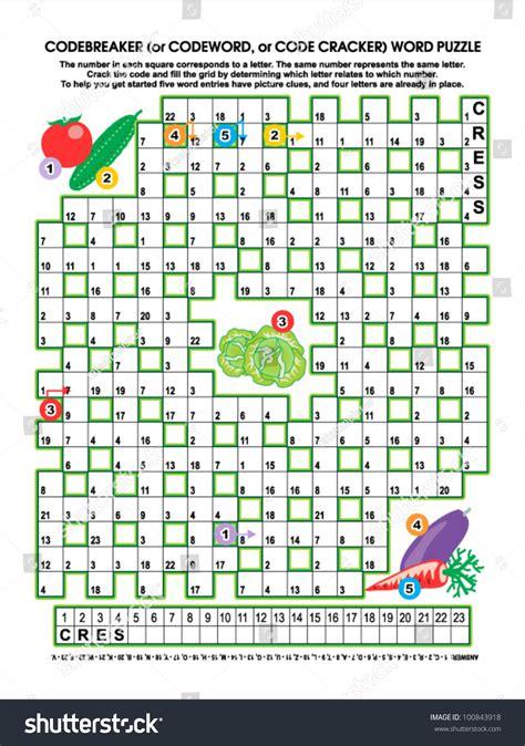 Garden Puzzle Answer Codebreaker Or Codeword Code Cracker Word Stock Vector