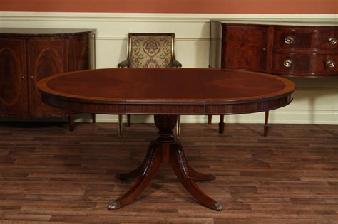 48 quot to 66 quot oval mahogany dining table reproduction