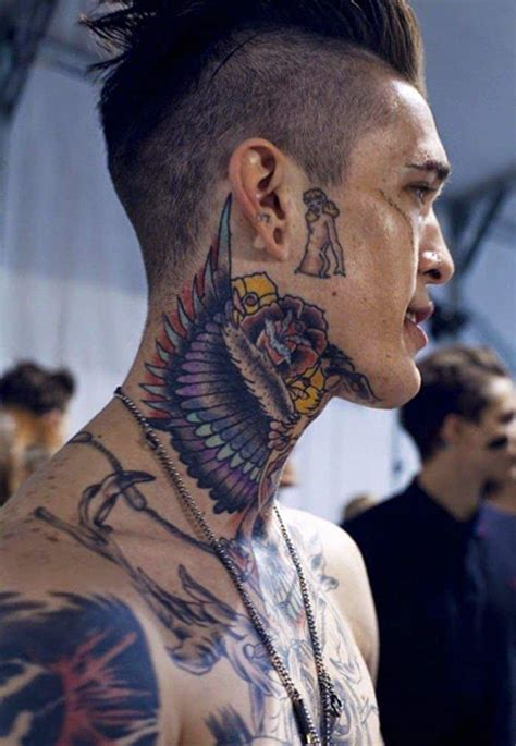 tattoo on neck photos neck tattoo designs for men mens neck tattoo ideas