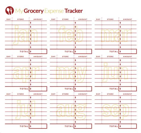 sample expense tracking templates   ms word