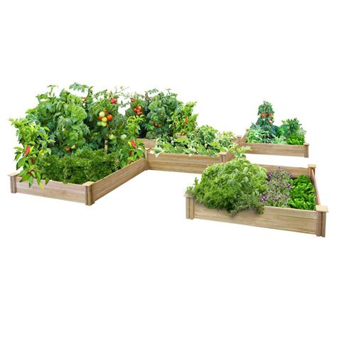 raised garden bed kits greenes fence 80 sq ft dovetail raised bed garden kit