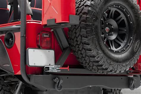 swing out spare tire carrier bumper mounted spare tire carriers swing out swing down
