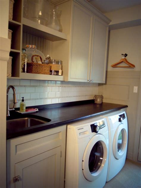 fab minimalist white laundry room decorating designs with