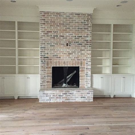 Brick Fireplace by 25 Best Ideas About Whitewash Brick Fireplaces On