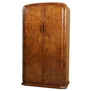 deco burl walnut wardrobe or armoire at 1stdibs