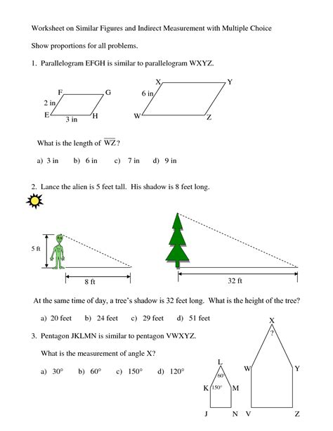 Similar Figures Worksheet 7th Grade by Similar Figures Proportions Worksheet Abitlikethis