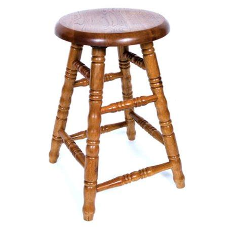 30 Inch Bar Stools Walmart by Aw Furniture Solid Medium Oak Backless Saddle Swivel 30