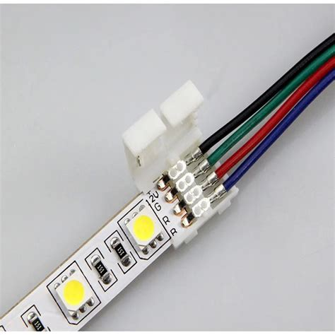 Konektor Conector Led 5050 Rgb 10 Mm extension conector para cinta rgb 5050 y 3528 bs 394