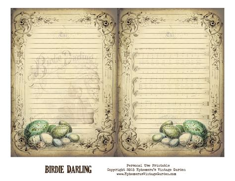 printable junk journal ephemera s vintage garden free printable vintage