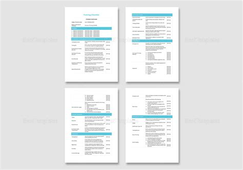 checklist template for apple pages magnificent training checklist template gallery exle