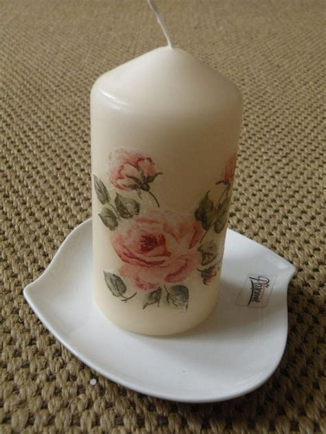 candele decoupage decoupage candle by lenka decoupage candles and stones