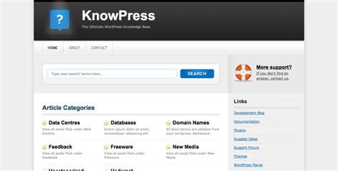 drupal themes knowledge base knowpress knowledge base wiki for wordpress by