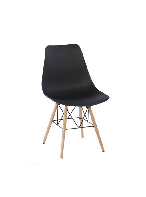 assise chaise chaise cyrielle assise polypropylene pieds bois scandinave