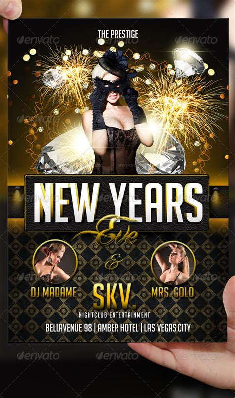 new years eve flyer template by lordfiren on deviantart